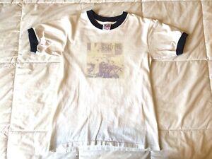 Vintage - The Smiths - Ringer T -Shirt - 1990s Anvil Single Stitch -Size S