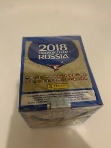 2018 Panini FIFA World Cup HUGE 50 Pack Sticker Box-250 Stickers!