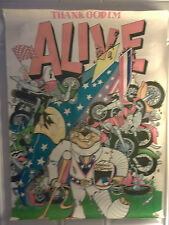 Vintage 1970's Meanie McSweeney Dare Devil Pro Arts Poster, #13-414, Preloved!