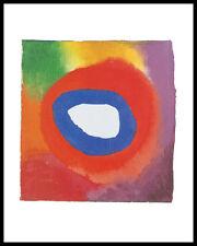 Kandinsky Colour studies with technical Poster Bild Kunstdruck & Rahmen 50x40cm