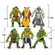 6 Pcs Teenage Mutant Ninja Turtles Action Figures NEW TMNT Toys Set Gift