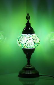 handmade  Mosaic Lamp Green Separated Circles
