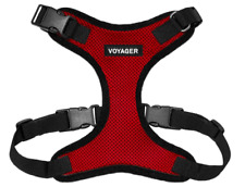 VOYAGER BY BEST PET Step-In Lock Dog Harness All Weather Mesh Adjusts Sz L - Red