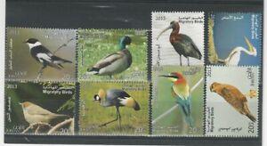 JORDAN 2014 SG2485/92 BIRDS/FALCONS/DUCKS STUNINNG COMPLETE SET OF 8 MNH $22 *