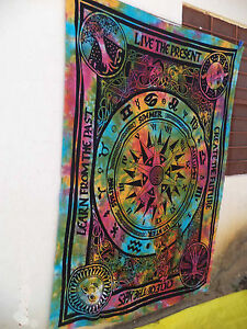 Indian Art Decor Tapestry Wall Hanging Bedspread Hippie Tapestries Dorm Bohemian