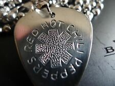 Red Hot Chili Pepper Hand carving Stainless Steel Guitar Pick Necklace