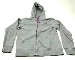 The North Face Sweater Hoodie Women Size Medium M Gray Full Zip Long Sleeve Top