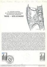 DOC. PHILATÉLIQUE - HOTEL DE MAUROY - 1978 YT 2011