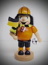 Fumador Fussballer Kicker 16cm Amarillo / Negro con Bandera Figura Humeante