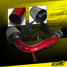 For 08-14 Impreza WRX/STI 2.5L 4cyl Red Cold Air Intake + Red Filter Cover