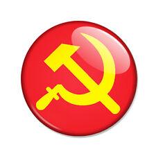 Badge Drapeau FAUCILLE et MARTEAU rouge jaune 1917 communisme communiste Ø25mm
