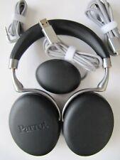 New Parrot PF562002 Zik 3 Headphones in Black Leather-Grain
