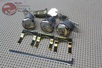 61-63 Cadillac Ignition Door Trunk Lock Cylinder Set Short Cylinder Flat Pawl