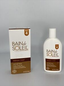 BAIN de SOLEIL Sunscreen MEGA TAN Lotion 4oz 🚩 DISCONTINUED 🚩RARE/ EXP 04/21🌞