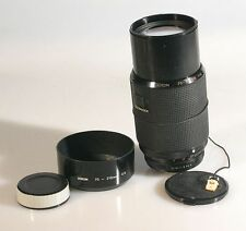 70-210MM F 4.0 MACRO LENS, W/FRONT AND REAR CAPS, HOOD FOR PENTAX K MOUNT
