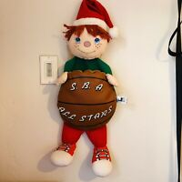 Vtg Santa's Best Rennoc Little Boy Elf Plush Christmas Stocking Basketball