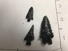 Authentic Ancient Indian Arrowhead Artifact Obsidion