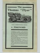 1906 PAPER AD 4 PG The Thomas Flyer 50 HP $3,500 Car Auto Automobile Buffalo NY