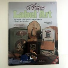 Antique Label Art Tole Painting Book instruction pattern wood acrylic C Williams