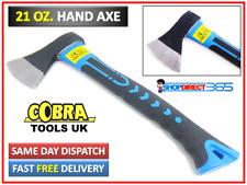 More details for hand axe fibreglass shaft handle log fire wood chopper camping 21oz 600g 23-53