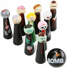 Bowling Zombies Wooden Novelty Game , New, Free Shipping