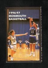 Monmouth Hawks--1996-97 Basketball Pocket Schedule