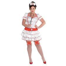 Ladies Sexy Nurse IV Fancy Dress Costume A&E Medical Plus Size 18-20