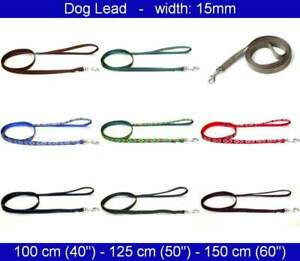 Dog Lead - Width: 15mm - Length: 1 meter, 1.25 meters, 1.50 meters