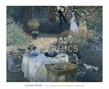 "MONET CLAUDE-THE LUNCHEON:MONET'S GARDEN ARGENTEUI-ART PRINT POSTER28""X34""(1605)"