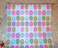 VTG EASTER EGG & BUNNY DEPT. STORE WRAPPING PAPER GIFT WRAP 2 YARDS PASTELS