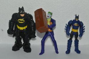 2011-12 Mattel DC Comics 2 Batman Action Figures + Riddler Used Very Good