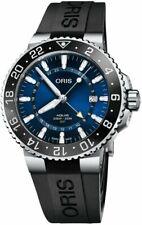 New Oris Aquis GMT Date Blue Dial Rubber Strap Men's Watch 79877544135RS