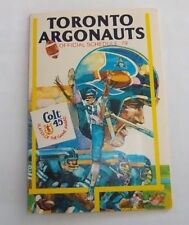 Toronto Argonauts Football pocket schedule 1979 CFL