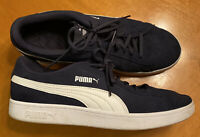 Puma Smash v2 Suede Sneakers Shoes Men's Size 11 Eur 44.5 Navy Blue Casual Skate