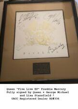 Queen Brian May Freddie Mercury George Michael Bohemian Rhapsody UACC signed x5