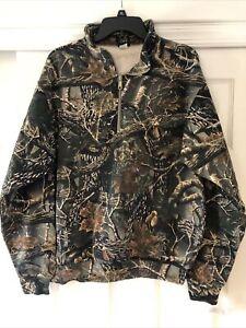 Cabelas NWT Men's 1/4 Zip Pullover sz Large Seclusion 3D Camo sweatshirt