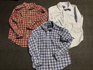 3 Polo Ralph Lauren Boys Button-Up Shirt Size 5 Multicolored Check EUC