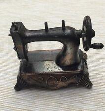 Vintage Miniature Die Cast Sewing Machine Pencil Sharpener Made in Hong Kong