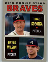 (10) 2019 Topps Heritage 10-CARD LOT Chad Sobotka/Bryse Wilson Braves RC #172