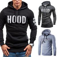 Mens Slim Fit Hoody Hoodie Coat Jacket Sweatshirt Pullover Jumper Top Sweater