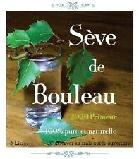 """1 Cure de Sève de Bouleau """"Fraîche""""- 2020 Primeur - 3 Litres"""