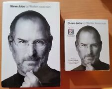 Steve Jobs by Walter Isaacson 2011, CD, Unabridged audio + hardcover book bundle