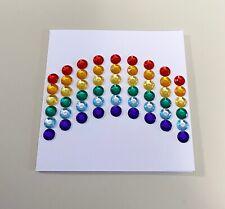 Rainbow Mini Greeting Gem Card (3x3)