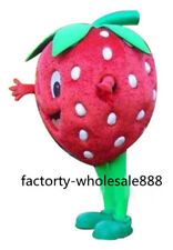 Strawberry Mascot Costume Fruit Suits Birthday Party Dress Adults Advertising