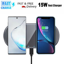 Dua 15W Qi Wireless Fast Charger Charging Dock For Samsung Galaxy Note 10+ Plus