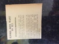 M3-8a ephemera 1941 dagenham ww2 article ilford call up numbers