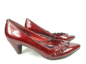Steve Madden Women Shoes Red Maroon High Heel Patent Leather Ladies Size 6
