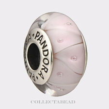 Authentic Pandora Sterling Silver Murano Pink Rose Looking Glass Bead 790922