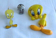 Tweety Bird 3 Lapel Hat Pin Pins - Enamel, Pewter, Plastic 1993 Wb