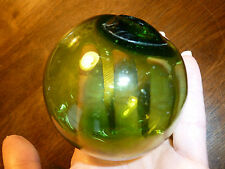 Vintage Hand Blown Glass Float/Ball/Orb - Light Green